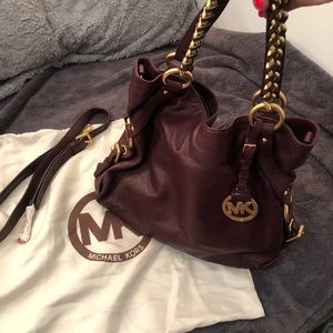 Michael Kors Trisitan Large Bag- Bordeaux